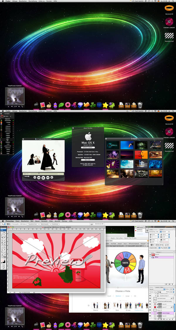 My Desktop 05 April 2008 by SexyLadyMaul