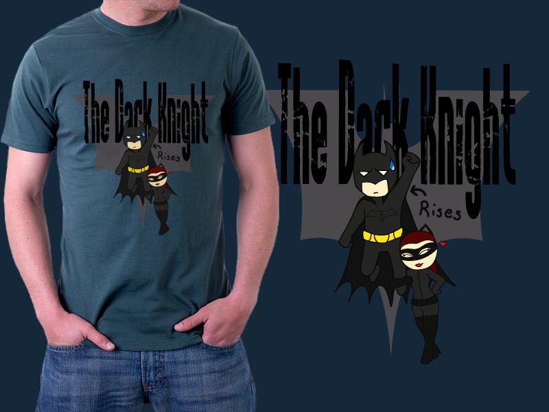 Batman - Dark Knight Rises t-shirt design by GuldeDK