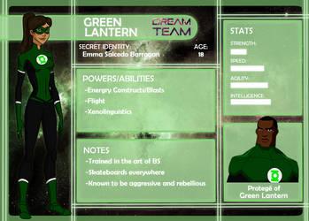 Dream Team App: Green Lantern by anakluxmos