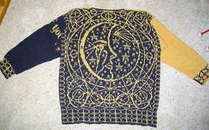 Crying Moon Half of Sweater by liralenli