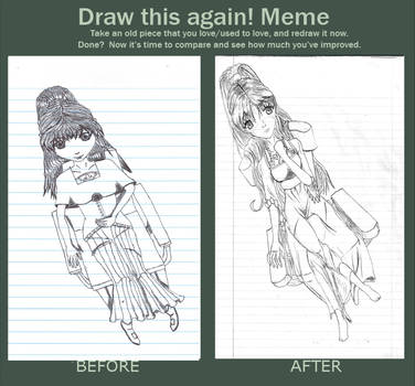 Girl In Chair Before and After Meme by MangaErudite