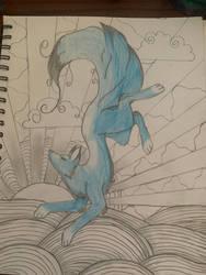 Blue Fox  by WolfiezSlasher