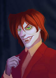 Redhaired Vampire by Rabies-Lyssavirus
