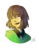 Smiling Chara by Eleo-choco