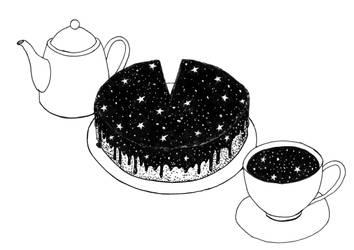 Space cake by werepine