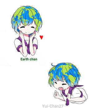 Earth chan  by Yui-Chan27