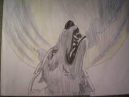 kiba and the moon by kibawolf1234