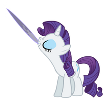 -Req- Rarity's a Badass by Chromadancer