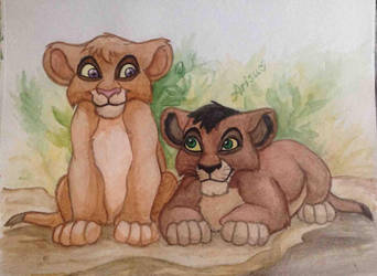 Little Kovu and Vitani by NemuShiffer