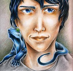 Blue lizard by MusiKasette