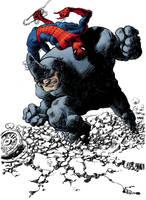 spider-man rihno by laseraw