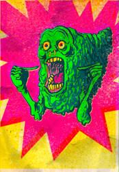 slimer vintage card by laseraw