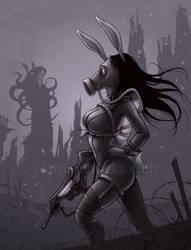 Bunny Hunter by aleksandracupcake