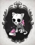 Bone Kitty by aleksandracupcake