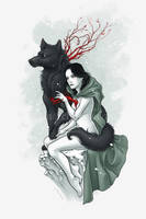 Witch and Wolf by aleksandracupcake