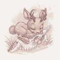 Jackalope Bunny by aleksandracupcake