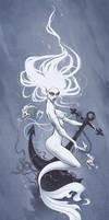 Ghost Mermaid by aleksandracupcake