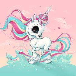 Zombie Unicorn by aleksandracupcake
