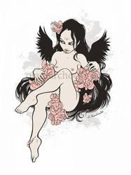 Flower Angel by aleksandracupcake