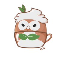 Rowlet (row-latte) by lunar-foundre