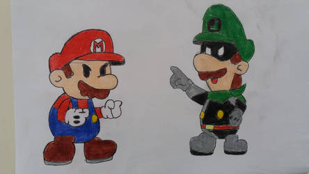 Paper Mario vs Mr L by 95damian