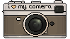 i love my CAMERA stamp by RRRAI