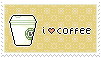 i love coffee stamp by RRRAI