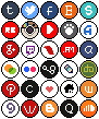 social media icons by RRRAI