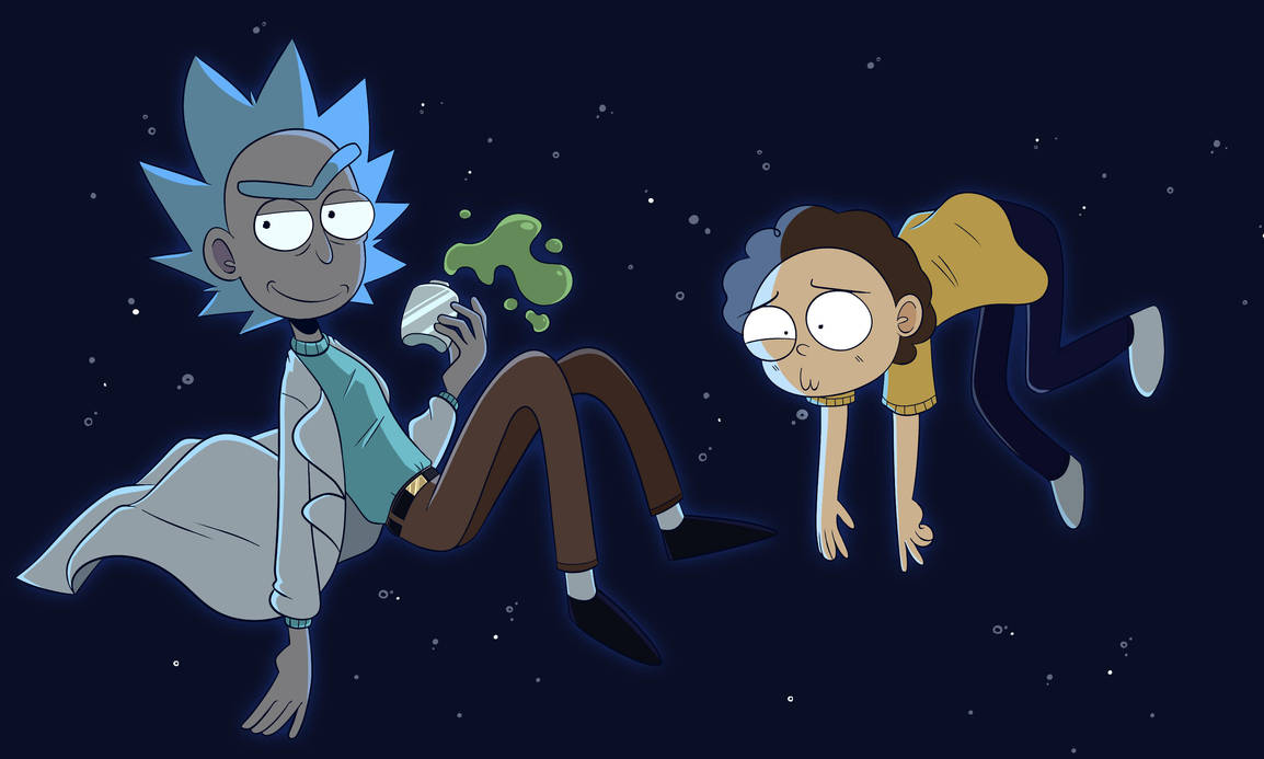 Rick and Morty by ecokitty