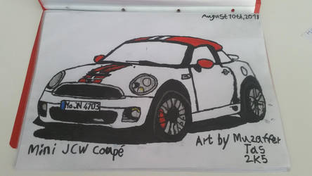 I drew Mini JCW Coupe by TheBoyNamedMuzaffer