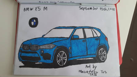 I drew a BMW X5 M on yesterday. by TheBoyNamedMuzaffer
