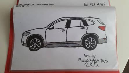 I drew a BMW X1 on yesterday. by TheBoyNamedMuzaffer