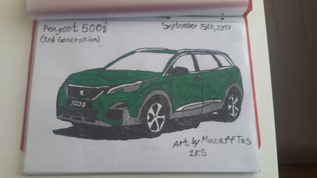 I drew a 2nd gen of Peugeot 5008 on yesterday. by TheBoyNamedMuzaffer