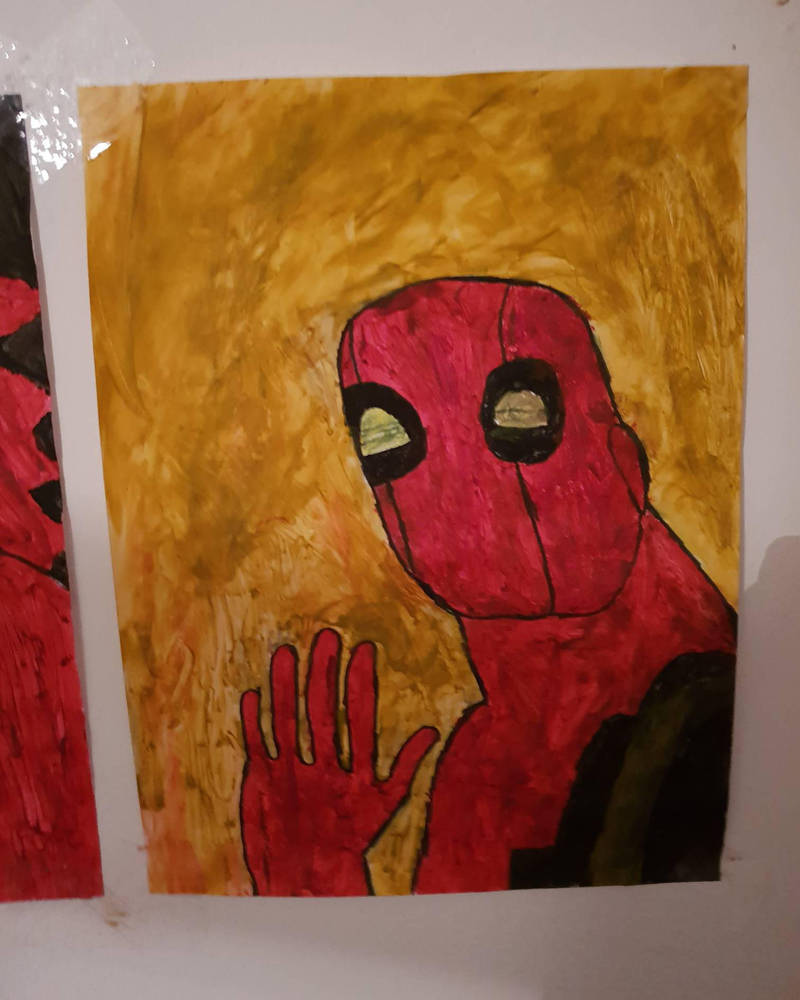 My paintings of Deadpool. by TheBoyNamedMuzaffer