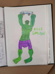 My drawings of Hulk by TheBoyNamedMuzaffer