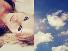 bright eyes, blue skies. by jessmarie