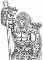 Aron Rangkok the Werelion. by WolfLSI