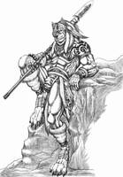 Highland werewolf warrior by WolfLSI