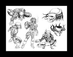 sketchbook predators by halo-zero