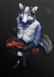 Violin Man by ElementalSpirits