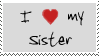 I love my sister stamp by Morbia