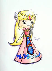 Princess Zelda by ShinyVaporeon258