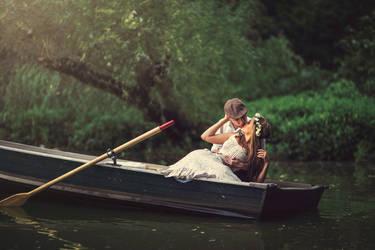Sunday on the Lake by boriszaretsky
