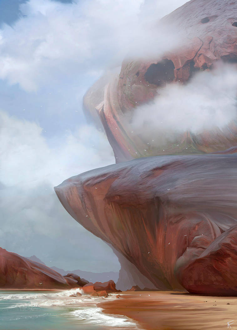 Red rocks by Anfedart