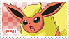 Flareon Fan Stamp by Skymint-Stamps
