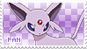 Espeon Fan Stamp by Skymint-Stamps