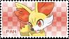 Fennekin Fan Stamp by Skymint-Stamps