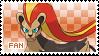 Pyroar Fan Stamp (Female) by Skymint-Stamps