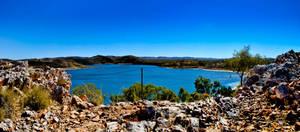 Lake Moondarra Panorama by SeanAustinFotography