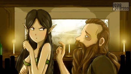 Elf x Dwarf by unforgivenarts